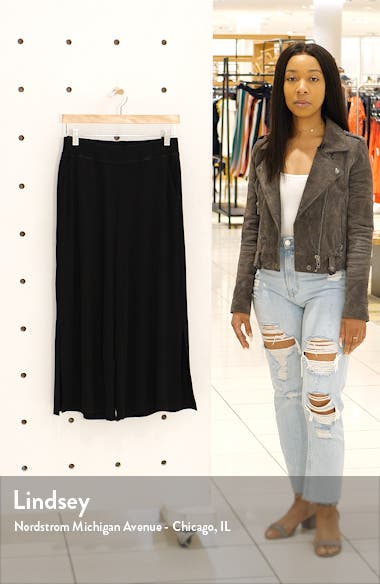 Side Slit Wide Leg Ankle Pants, sales video thumbnail