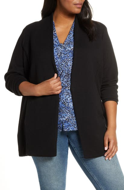 Nic And Zoe Plus Nic+Zoe Plus Grace Jacket In Black Onyx