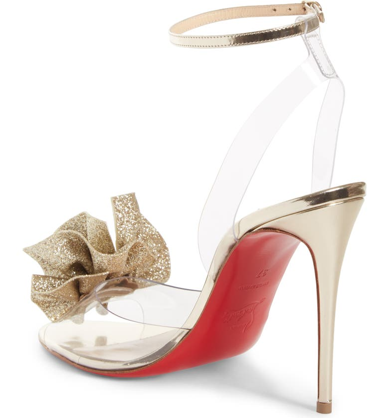014d7a6eb4 Christian Louboutin Fossiliza Clear Ankle Strap Sandal | Nordstrom