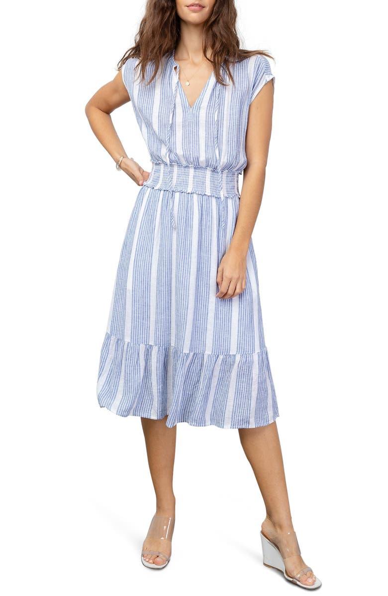 RAILS Ashlyn Stripe Linen Blend Dress, Main, color, LEVANZO STRIPE