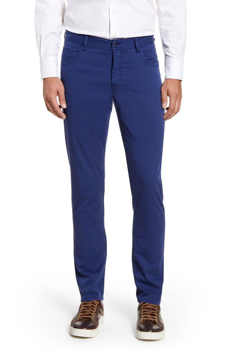 ROBERT GRAHAM Seaton Regular Fit Straight Leg Pants, Main, color, NAVY