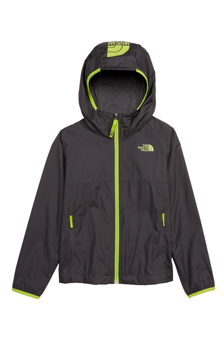THE NORTH FACE Windy Crest Water Repellent Jacket, Main, color, GRAPHITE GREY