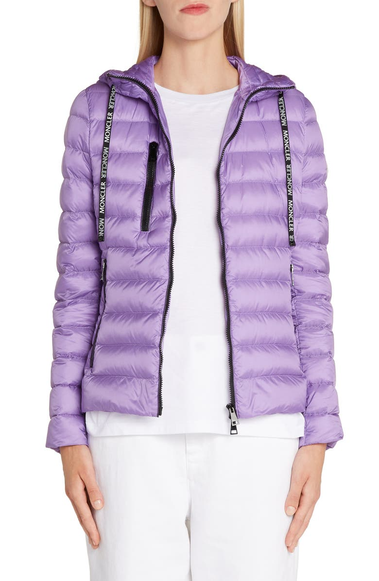 MONCLER Seoul Hooded Lightweight Down Jacket, Main, color, PASTEL PURPLE
