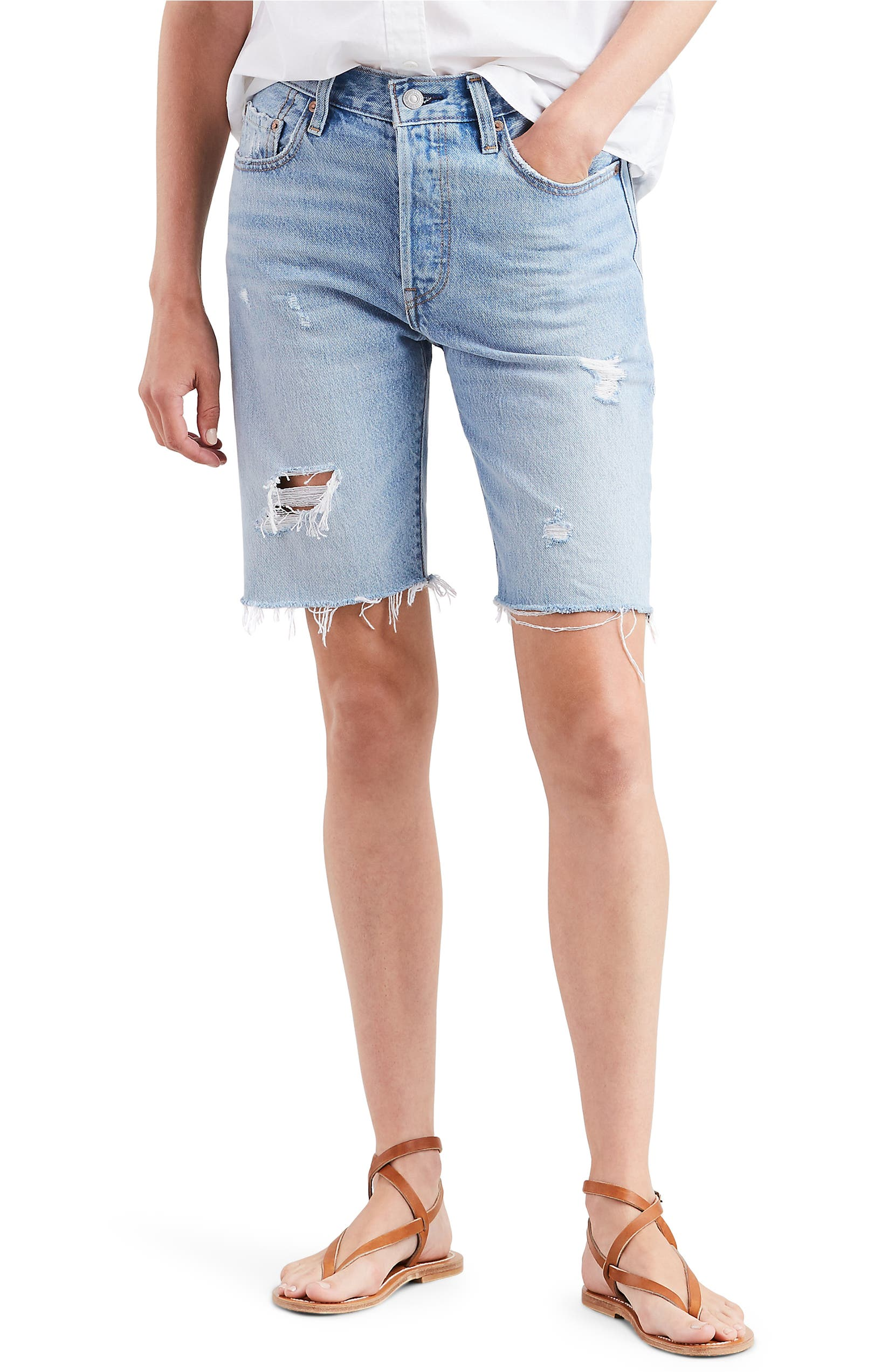 97be83c3 Levi's® 501® Ripped Slouch Shorts (Slouch Around) | Nordstrom