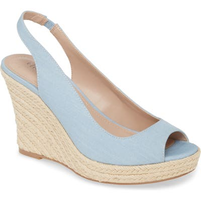 Charles By Charles David Laila Espadrille Slingback Wedge- Blue
