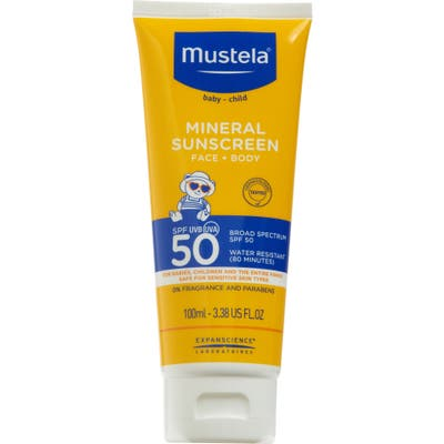 Mustela Spf 50+ Mineral Sunscreen For Face & Body