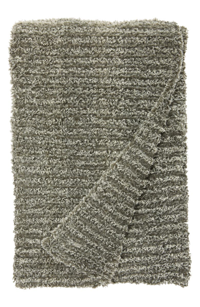 GIRAFFE AT HOME Luxe<sup>™</sup> Knit Throw Blanket, Main, color, FOG