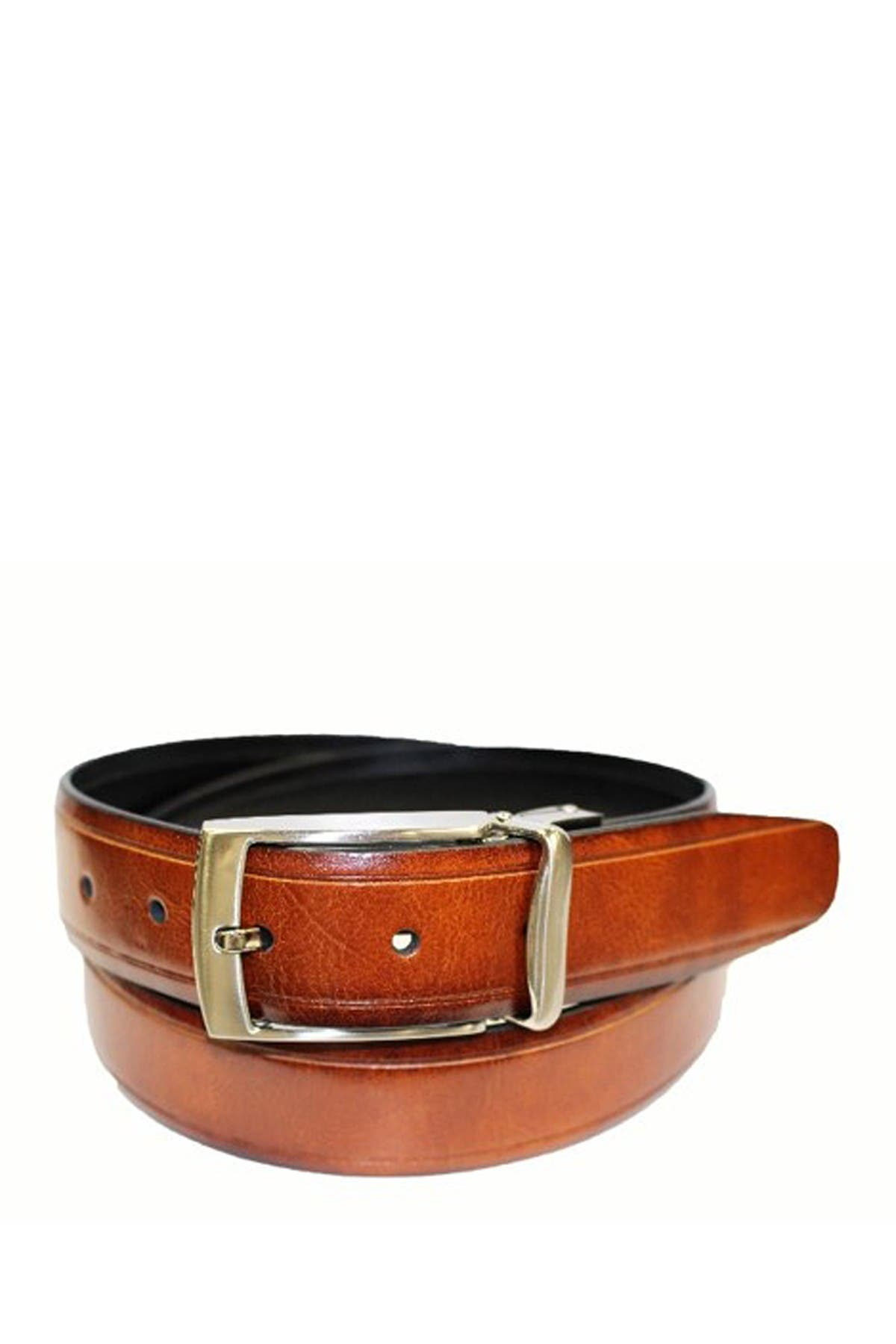 Image of BOSCA Reversible 35mm Smooth Leather Belt