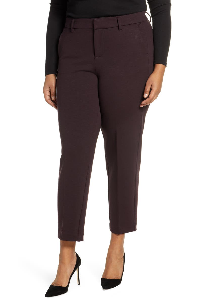 LIVERPOOL Kelsey Ankle Trousers, Main, color, CURRANT