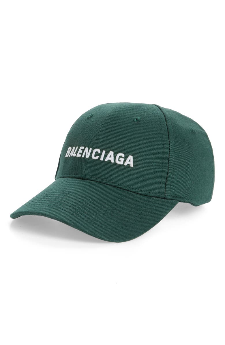 BALENCIAGA Embroidered Baseball Cap, Main, color, GREEN MULTI