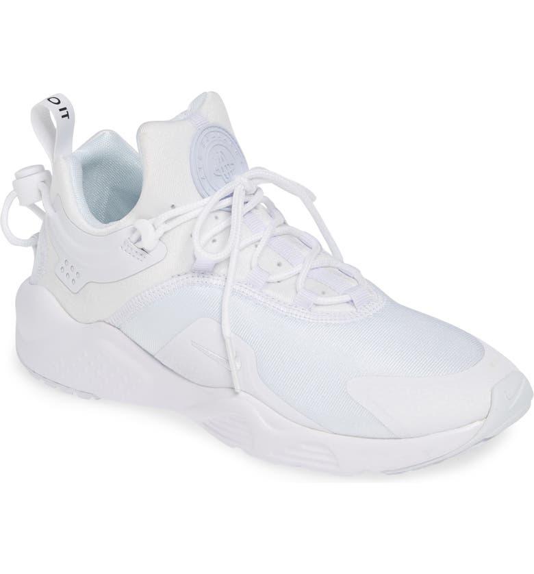 8feaae73d3 Air Huarache City Move Sneaker, Main, color, WHITE/ WHITE/ BLACK