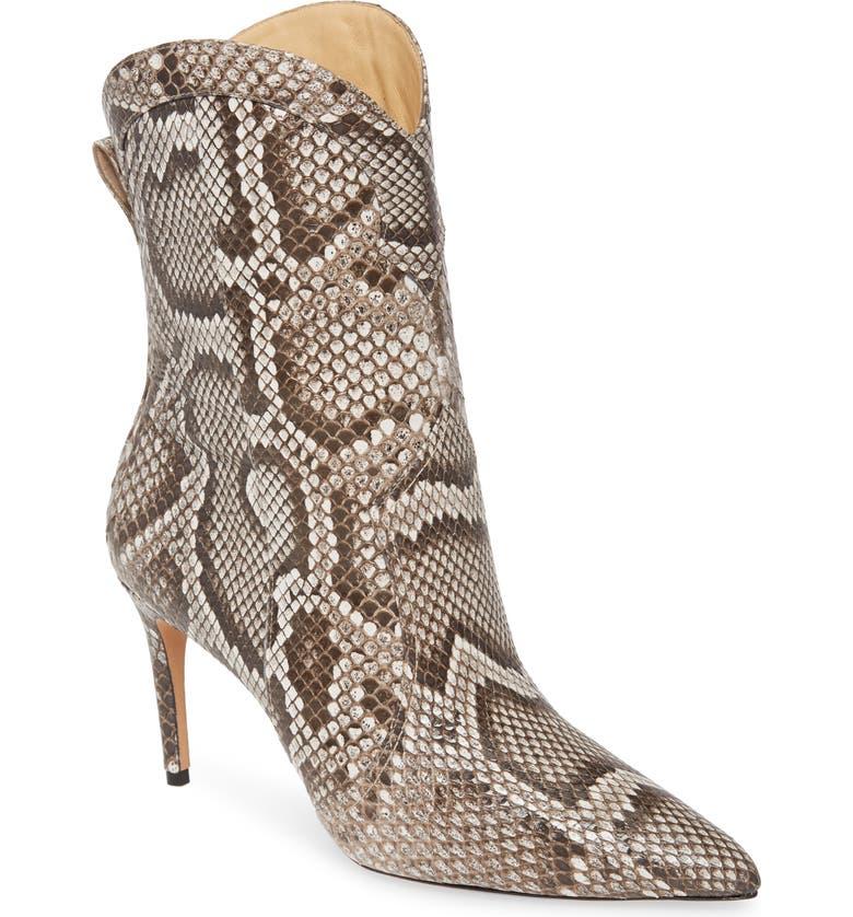 ALEXANDRE BIRMAN Esther Genuine Python Pointed Toe Boot, Main, color, NATURAL SNAKEPRINT