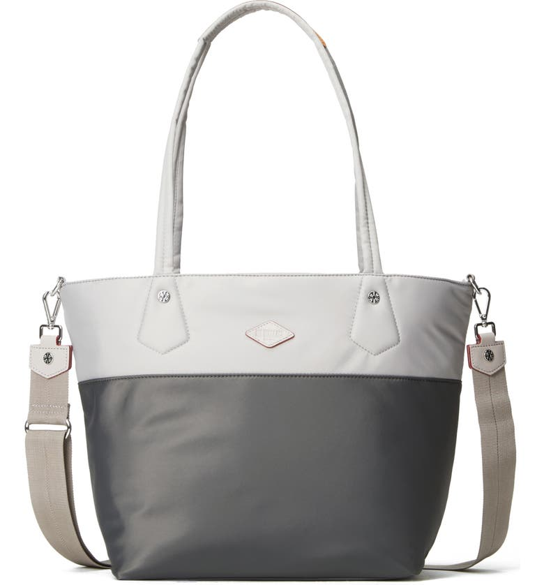 MZ WALLACE Soho Tote, Main, color, FOG AND MAGNET COLORBLOCK