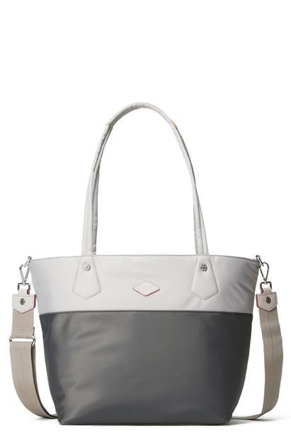 Mz Wallace Soho Tote In Fog And Magnet Colorblock