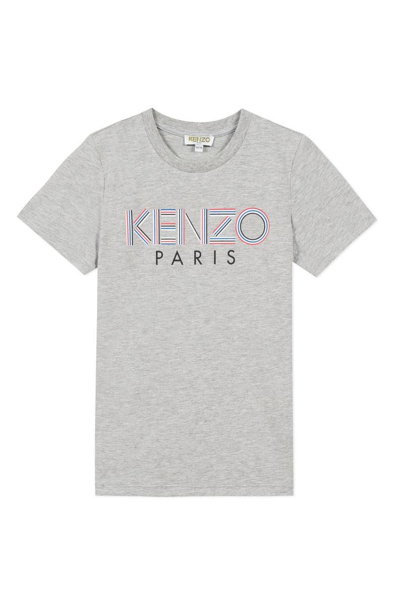 KENZO Logo T-Shirt, Main, color, MARL GREY