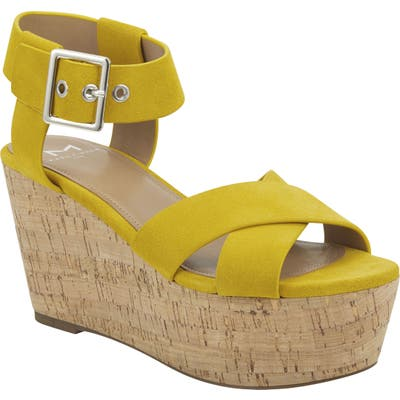 Marc Fisher Ltd Cacie Platform Sandal, Yellow
