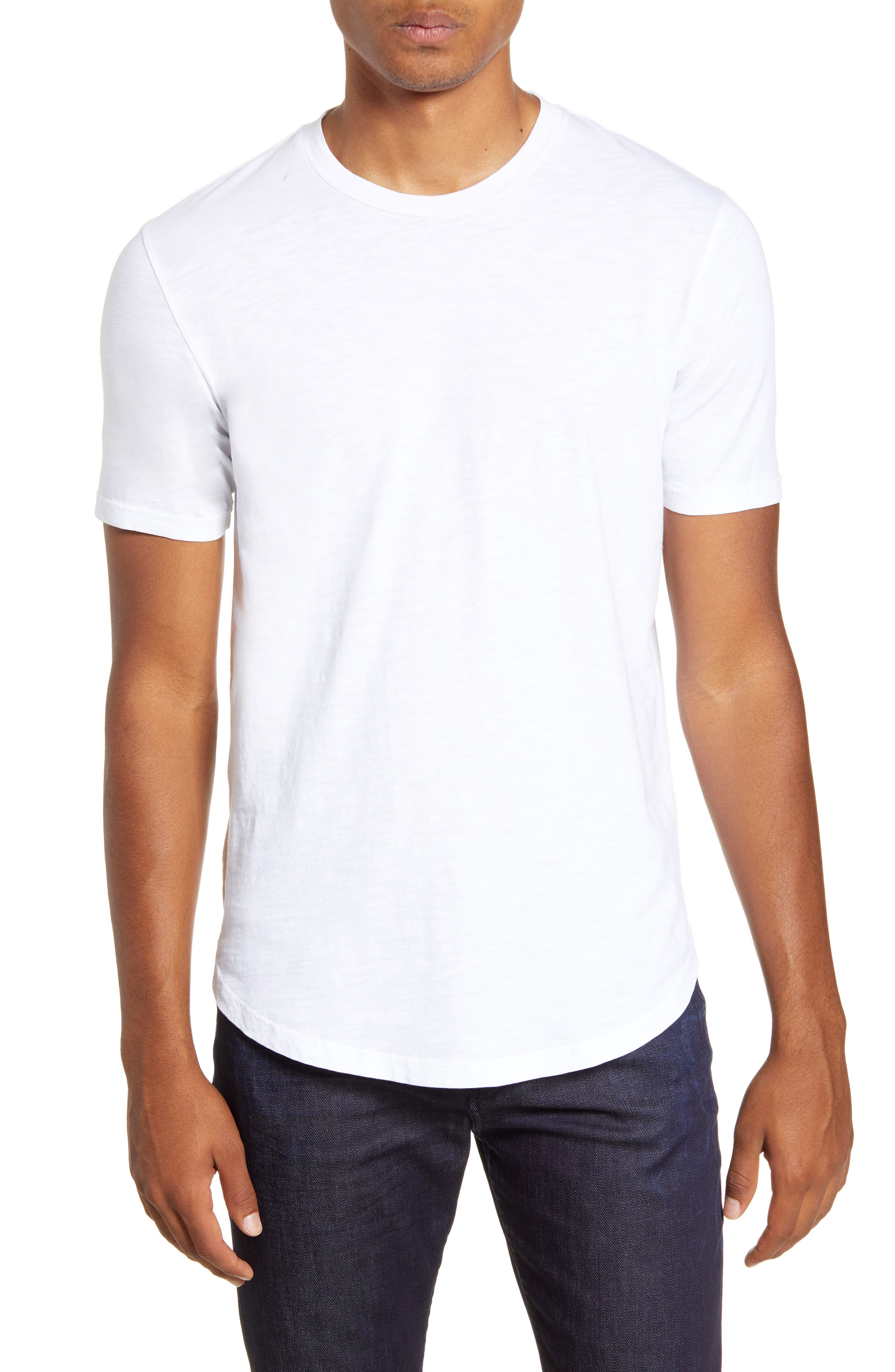 Scallop Slub Crewneck T-Shirt