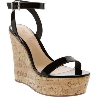 Schutz Eduarda Platform Wedge Sandal- Black