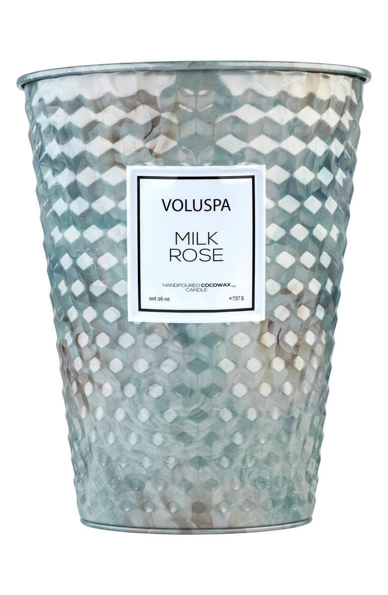 VOLUSPA Roses Two-Wick Tin Table Candle, Main, color, MILK ROSE