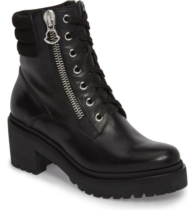 MONCLER Viviane Combat Boot, Main, color, BLACK