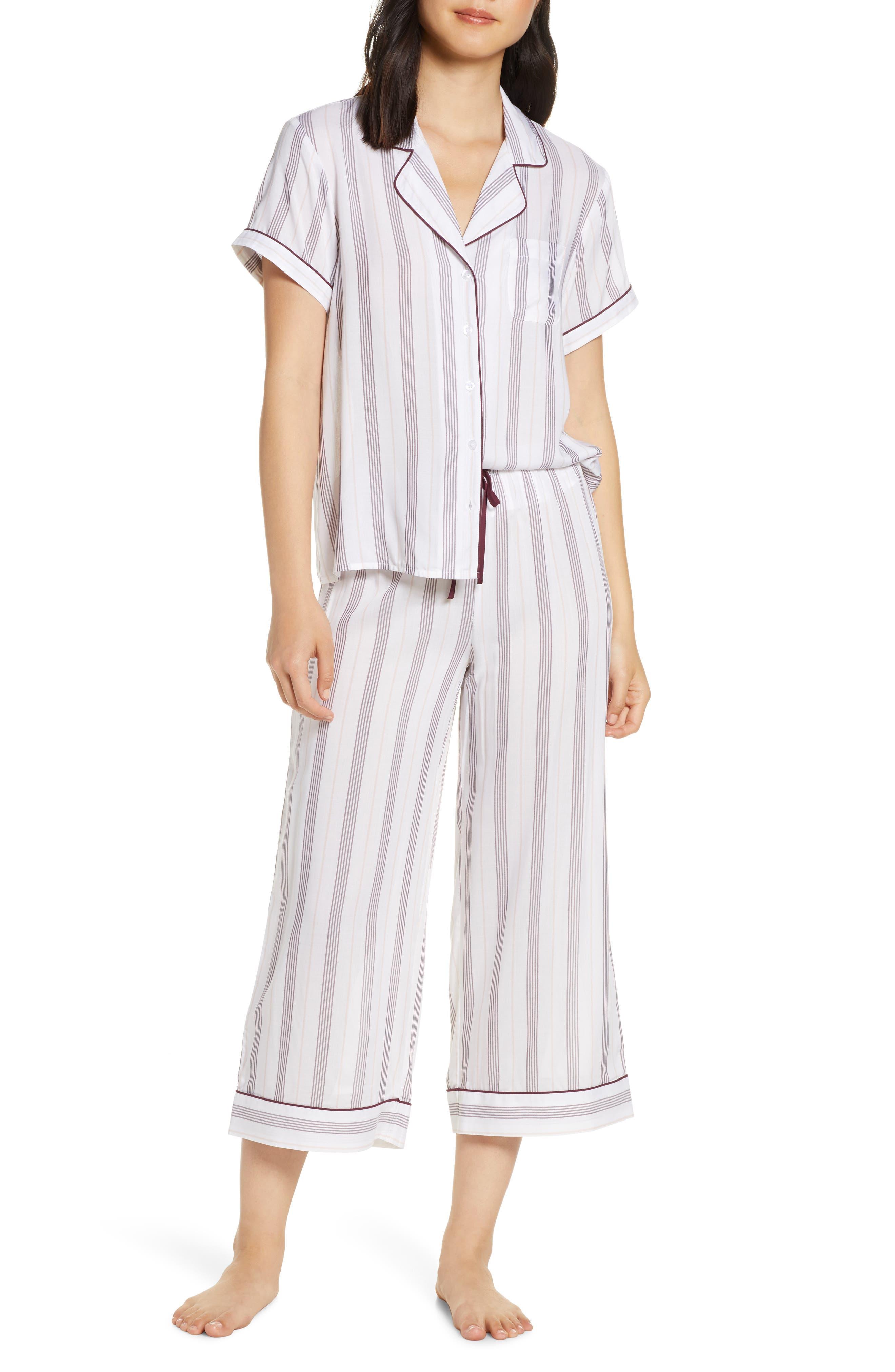 Nordstrom Lingerie Sweet Dreams Crop Pajamas, White