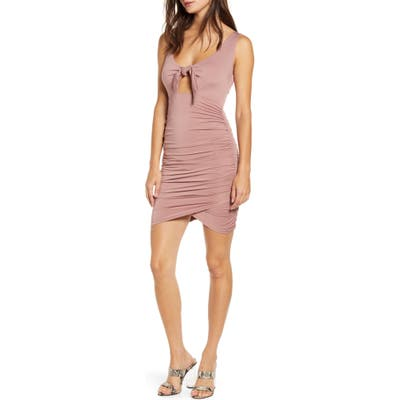 Tiger Mist Got Me Tied Body-Con Dress, Pink