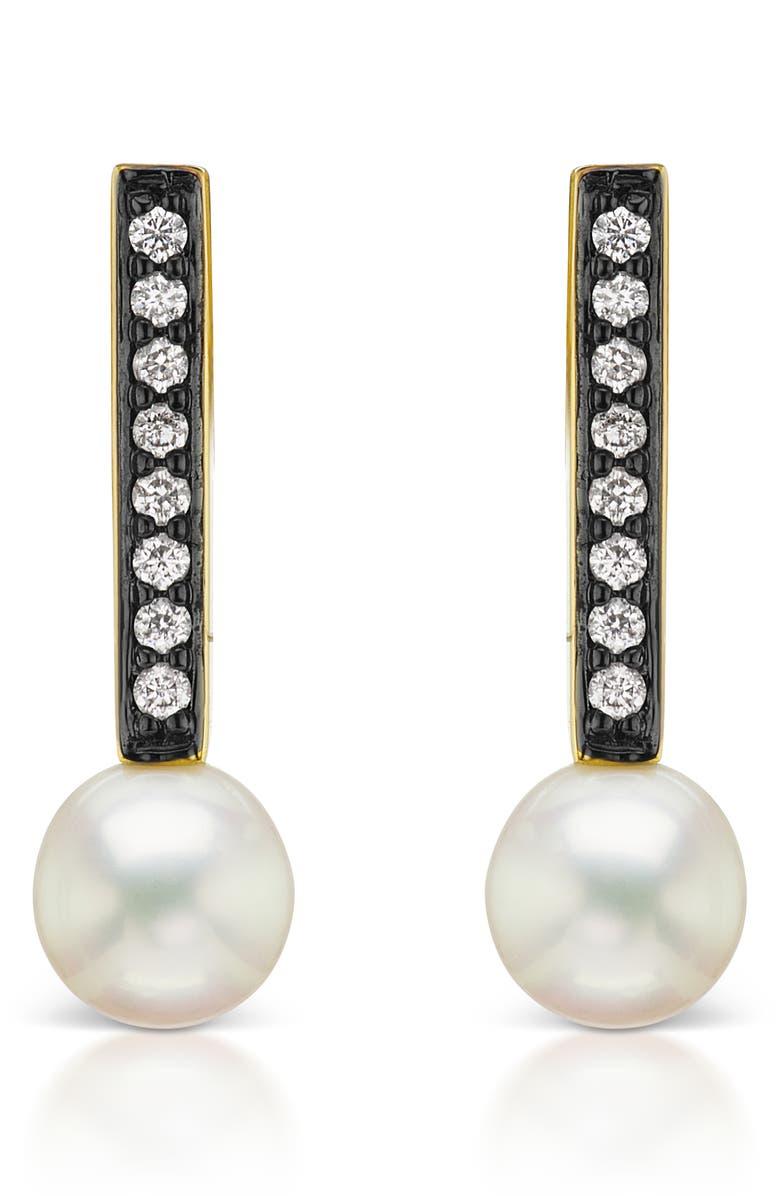 SORELLINA Diamond Pavé Stud Earrings, Main, color, WHITE