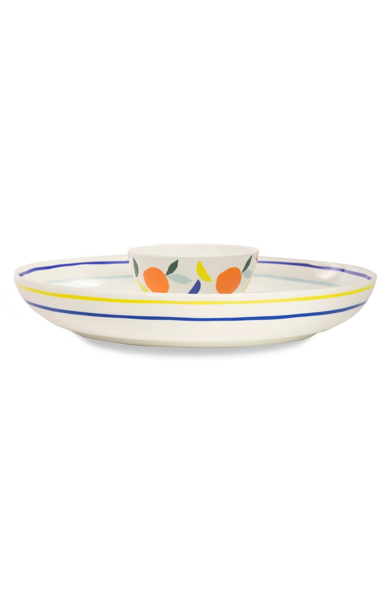 KATE SPADE NEW YORK citrus twist melamine chips & dip bowl, Main, color, ORANGE