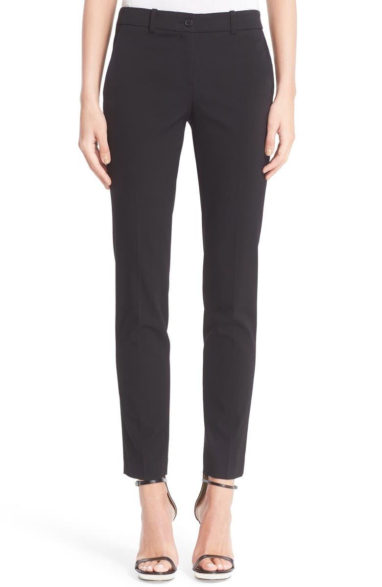 MICHAEL KORS Samantha Straight Leg Pants, Main, color, BLACK