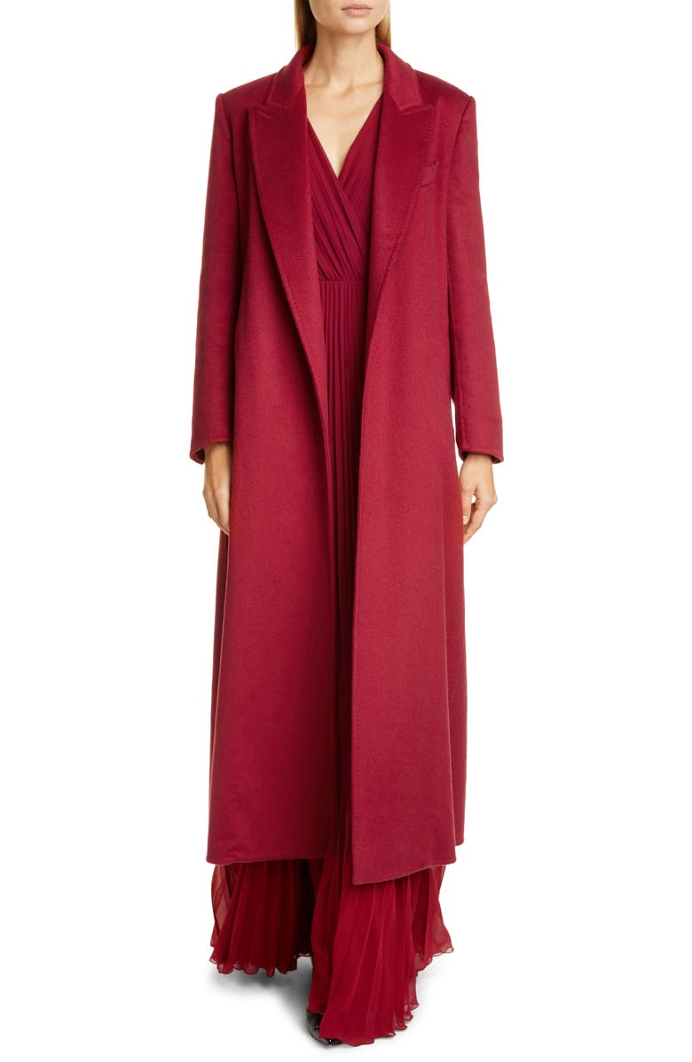 MAX MARA Kriss Cashmere Coat, Main, color, RED