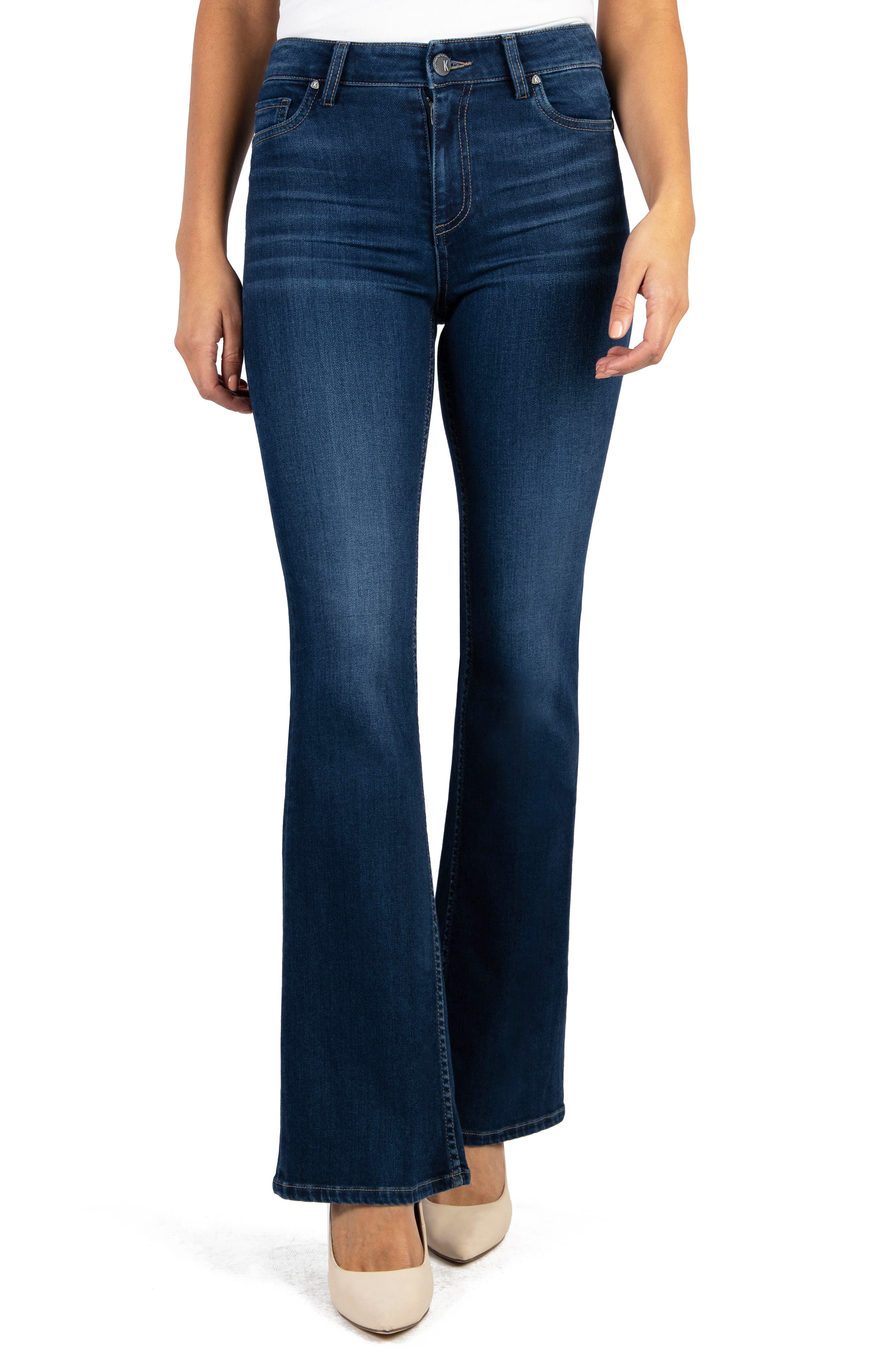 Image of KUT from the Kloth Ellie High Rise Flare Leg Jeans