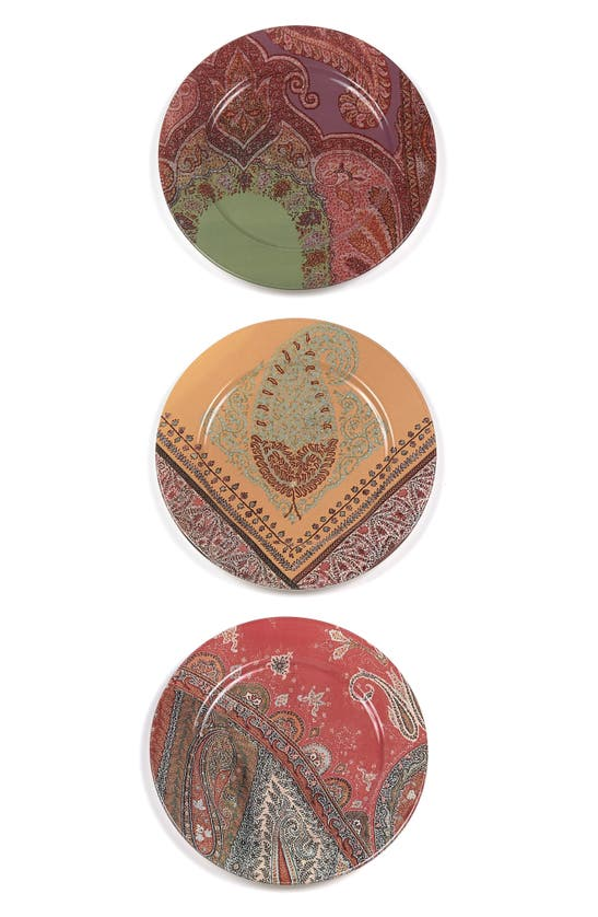 Etro Voyage Au Rajasthan Set Of Three Plates In Plate Assortment 1