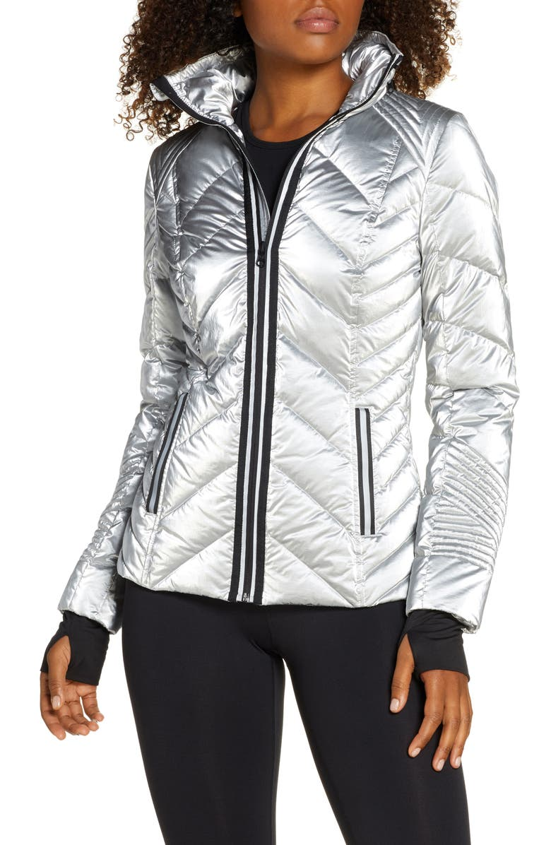 BLANC NOIR Reflective Down Puffer Jacket, Main, color, 020