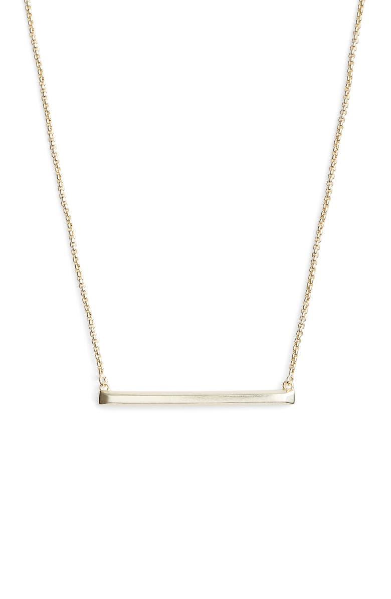 KENDRA SCOTT Kelsey Bar Necklace, Main, color, GOLD METAL