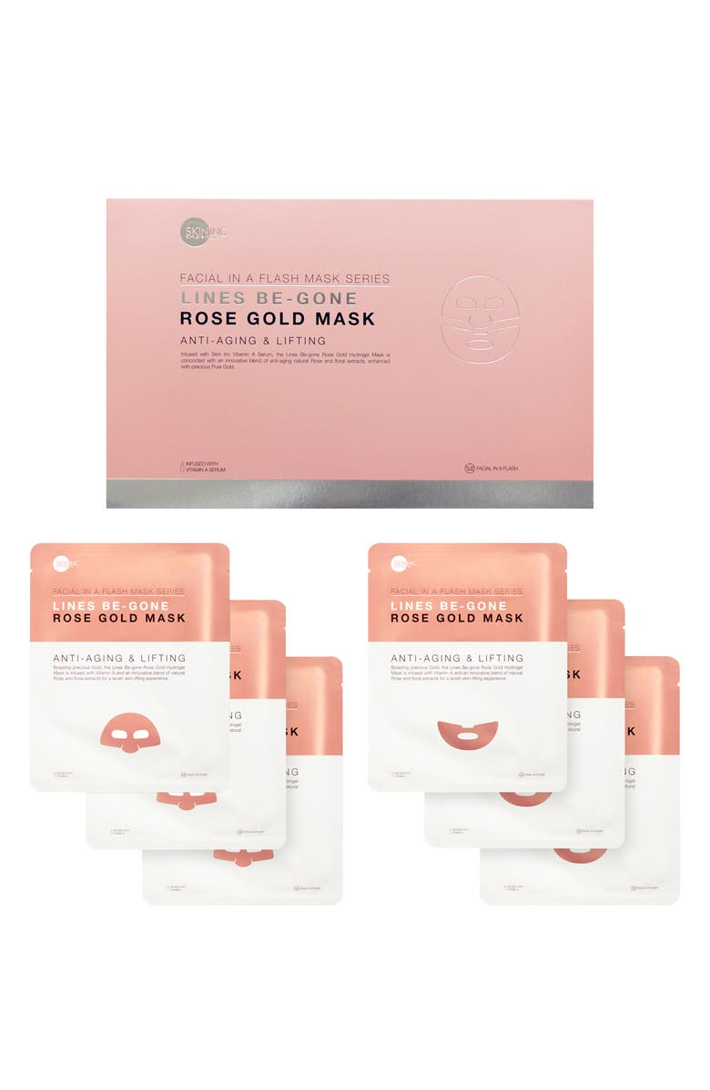 SKIN INC. Lines-Be-Gone Rose Gold Mask Set, Main, color, NO COLOR