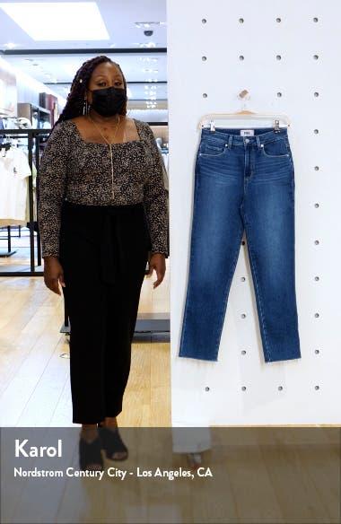 Sarah High Waist Raw Hem Crop Slim Jeans, sales video thumbnail