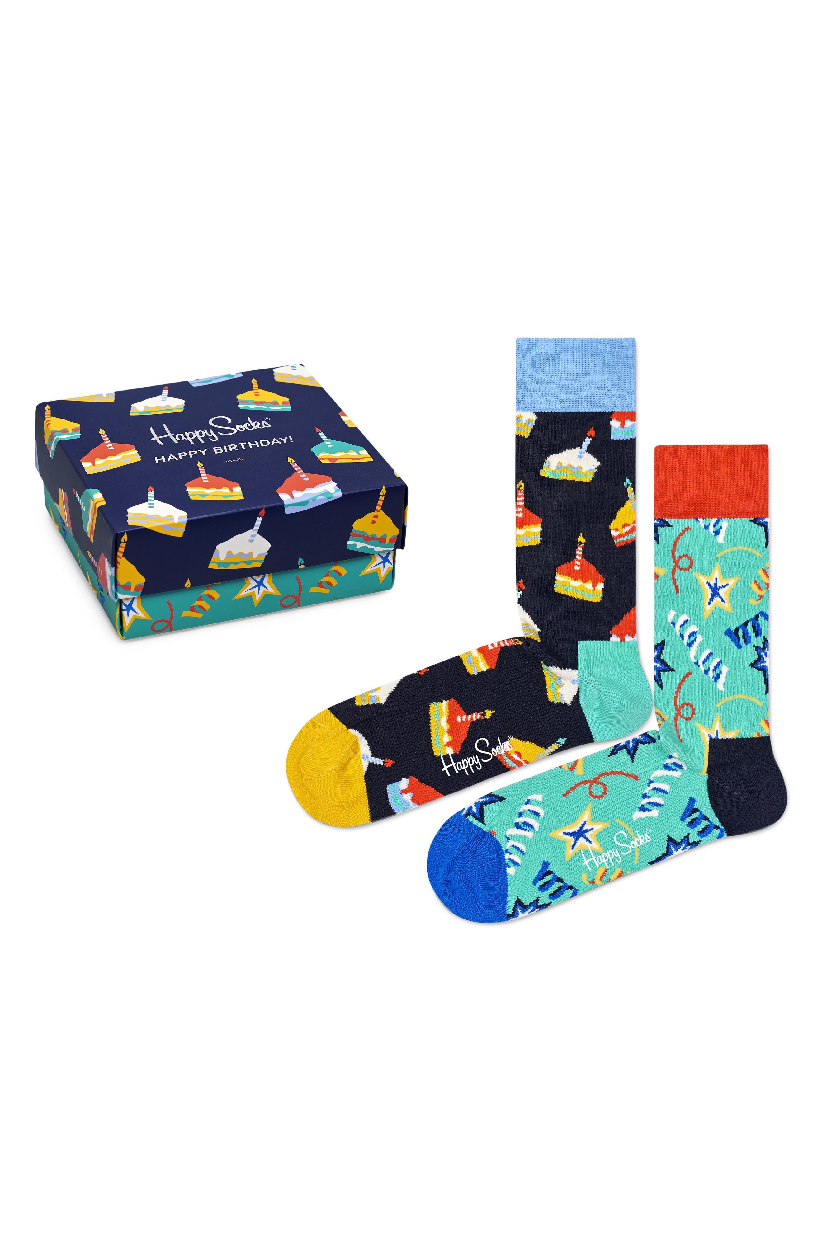 Birthday Assorted 2-Pack Crew Socks Gift Box