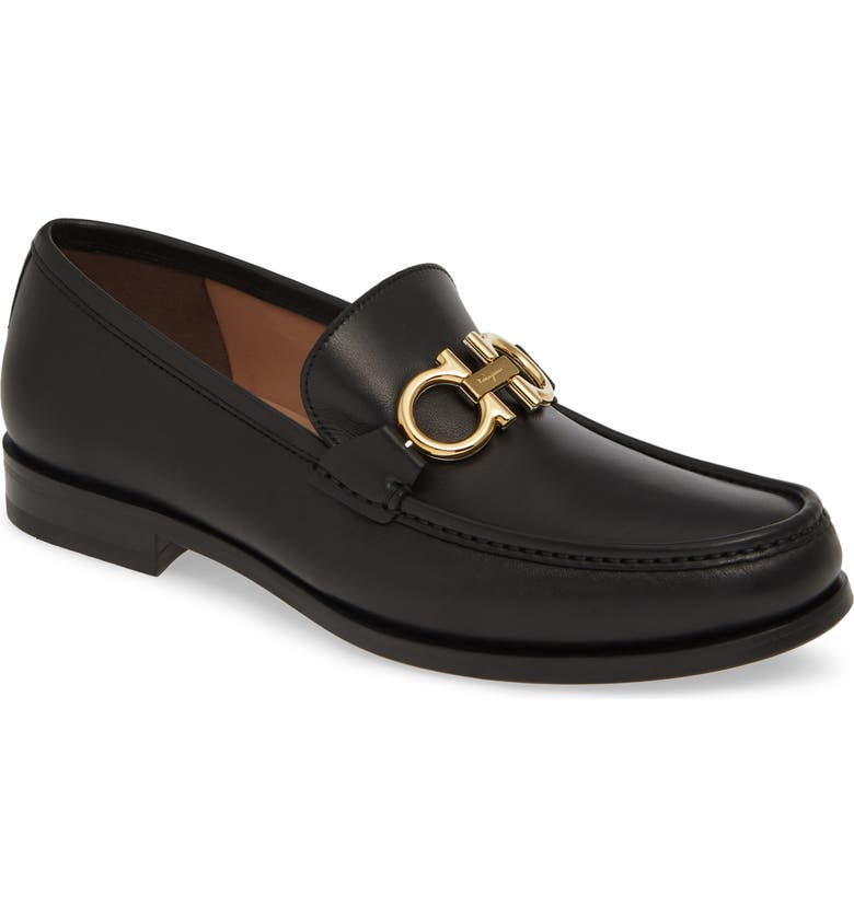 SALVATORE FERRAGAMO Rolo Bit Loafer, Main, color, NERO