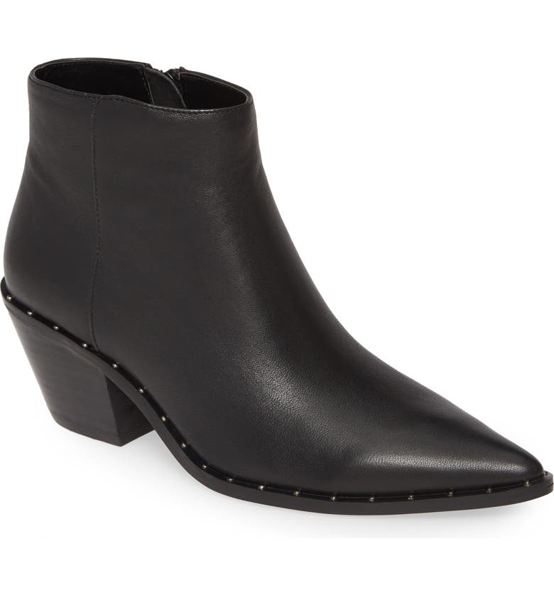 CHARLES BY CHARLES DAVID Plato Bootie, Main, color, BLACK LEATHER
