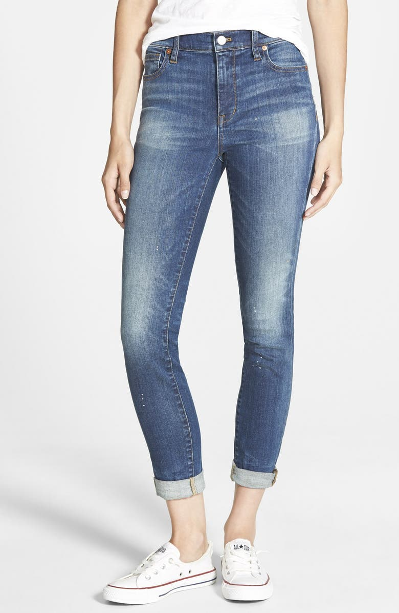 MADEWELL 'High Riser' Skinny Skinny Jeans, Main, color, 400