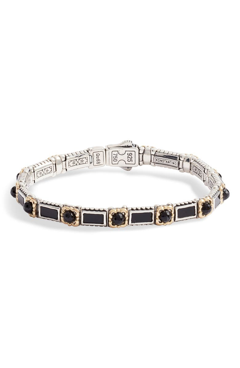 KONSTANTINO Calypso Line Bracelet, Main, color, SILVER/ GOLD/ BALCK ONYX