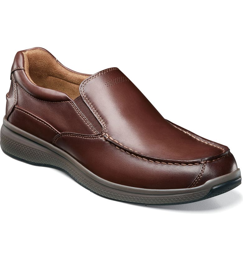 FLORSHEIM Great Lakes Moc Toe Slip-On, Main, color, BROWN