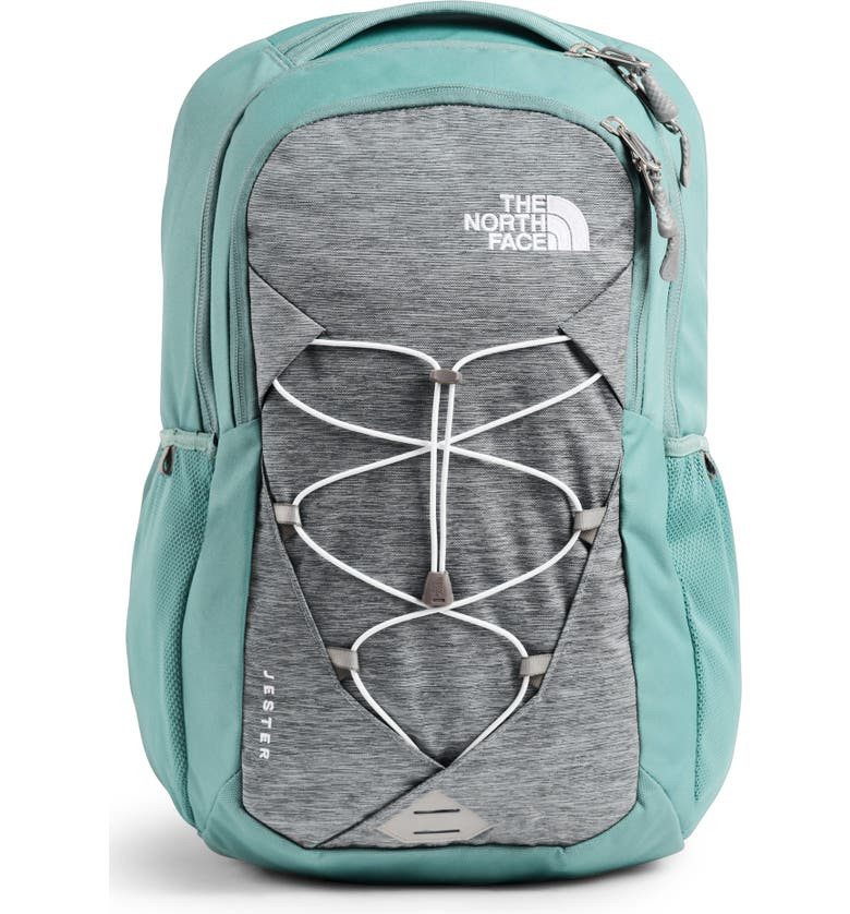THE NORTH FACE 'Jester' Backpack, Main, color, MID GRY LGT HTR/ TRELLIS GRN