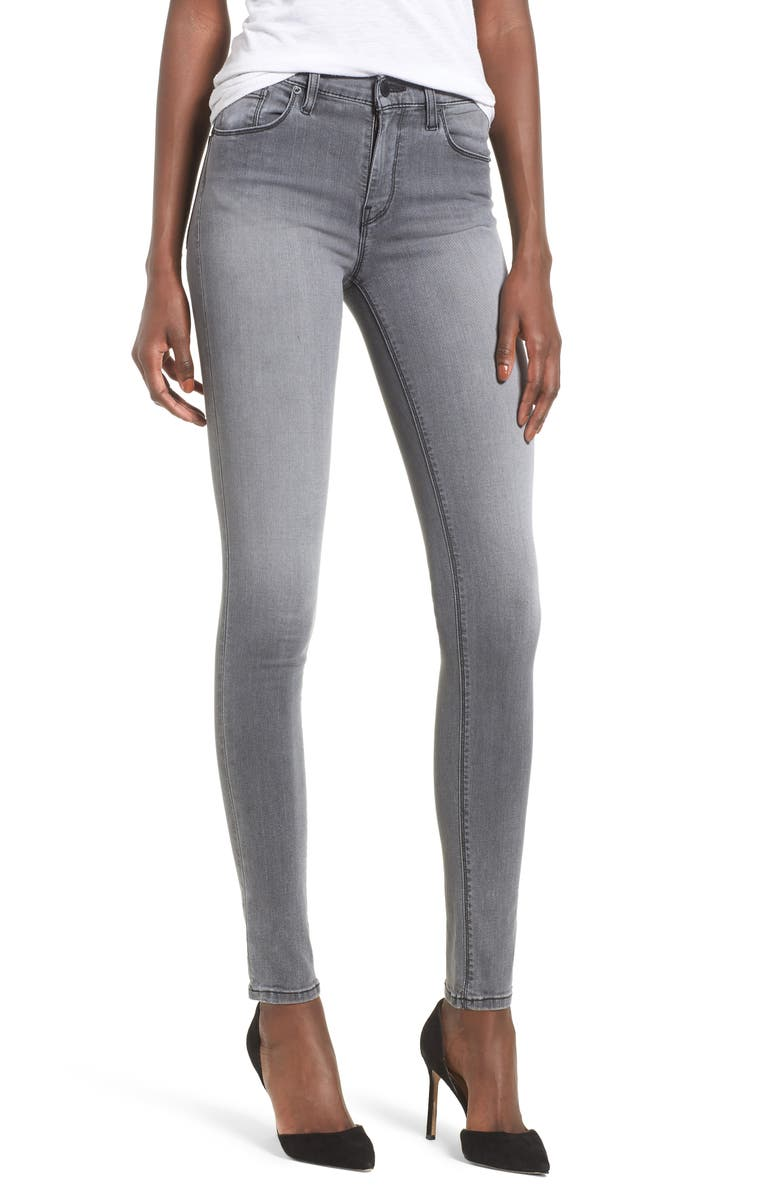 HUDSON JEANS Nico Super Skinny Jeans, Main, color, TROOPER GREY