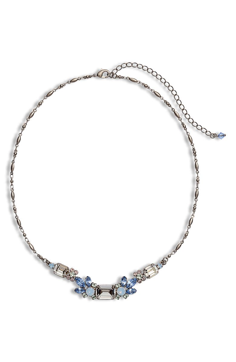 SORRELLI Pastel Prep Petal Crystal Necklace, Main, color, 400