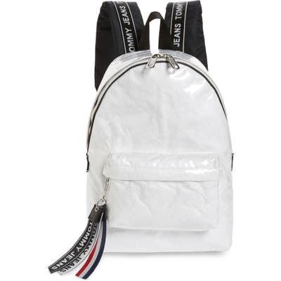 Tommy Jeans Logo Tape Coated Backpack - White