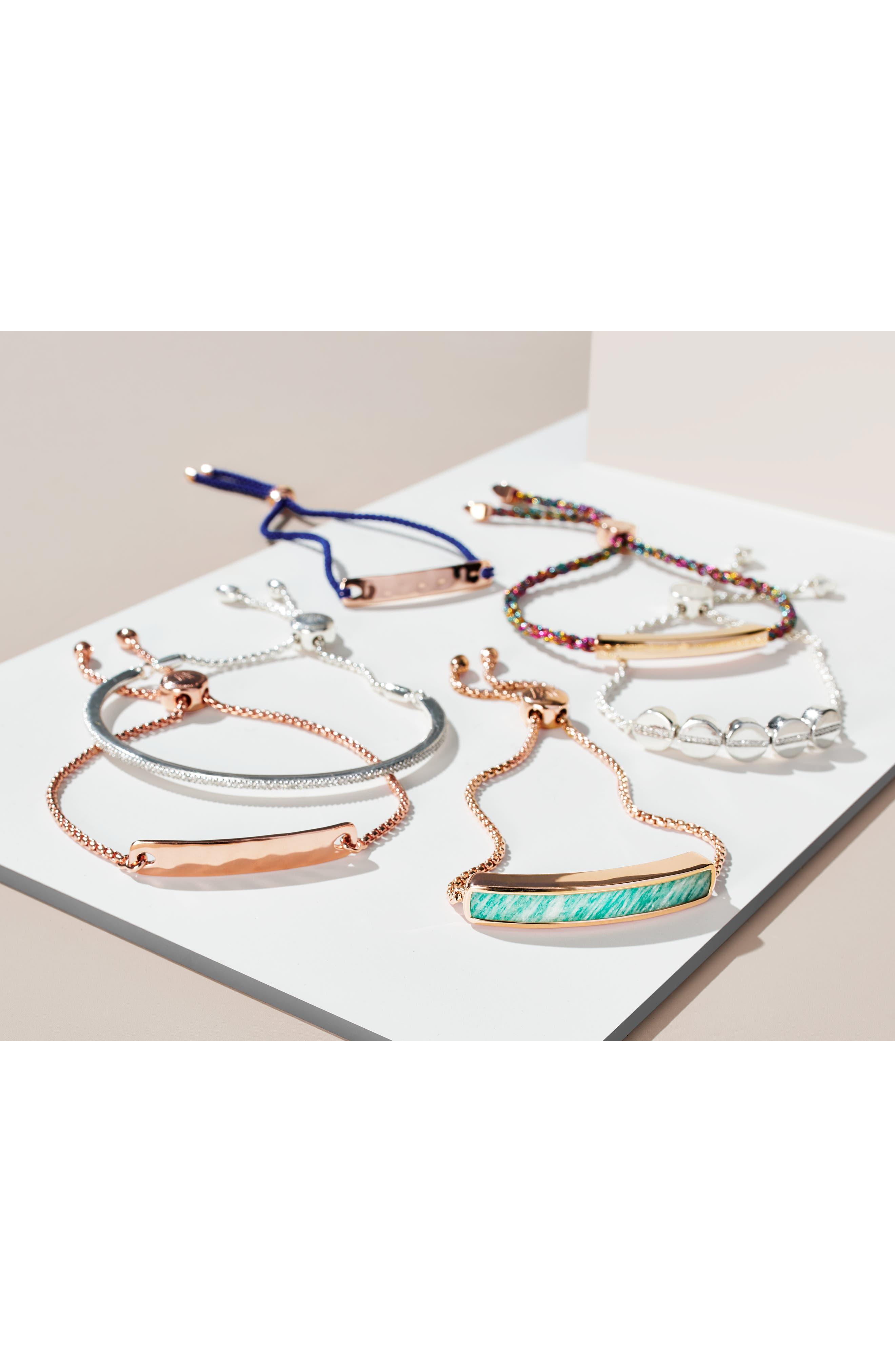 ,                             Engravable Linear Friendship Bracelet,                             Alternate thumbnail 6, color,                             ROSE GOLD/ RAINBOW