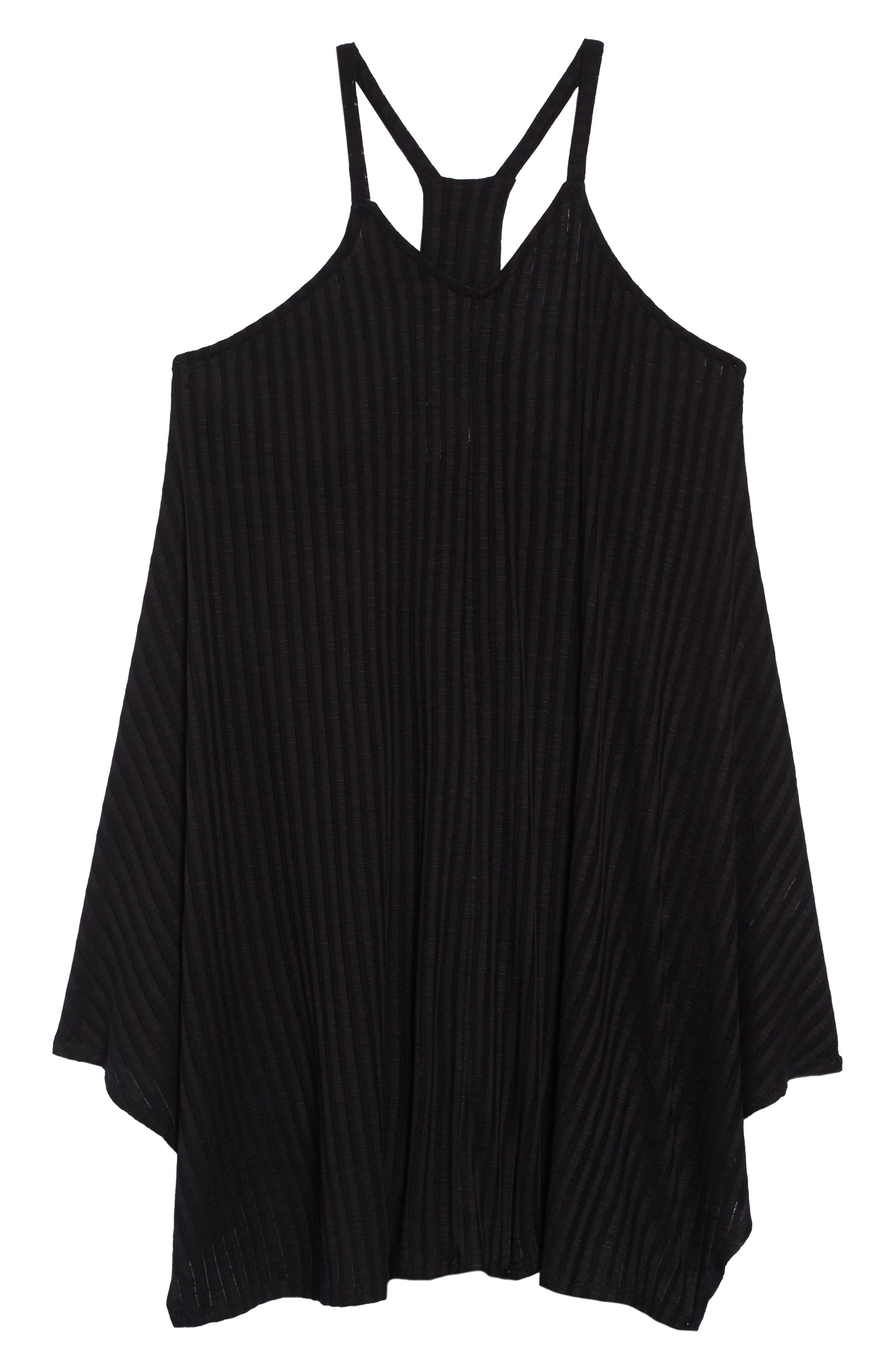 Twist View Cover-Up Dress, Main, color, BLACK