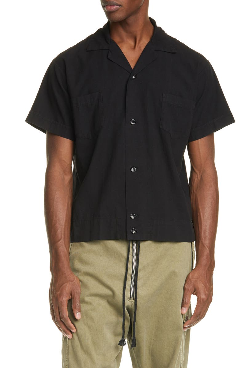 BILLY LOS ANGELES Butcher Short Sleeve Button-Up Shirt, Main, color, 001