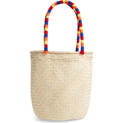 Brixton Leah Woven Straw Tote - Brown